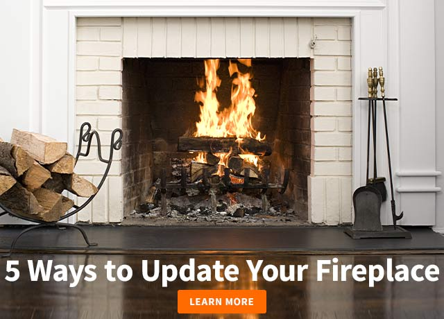 5 ways to update your fireplace