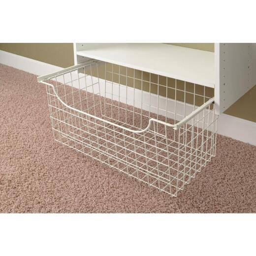 Easy Track 12 In. White Wire Basket