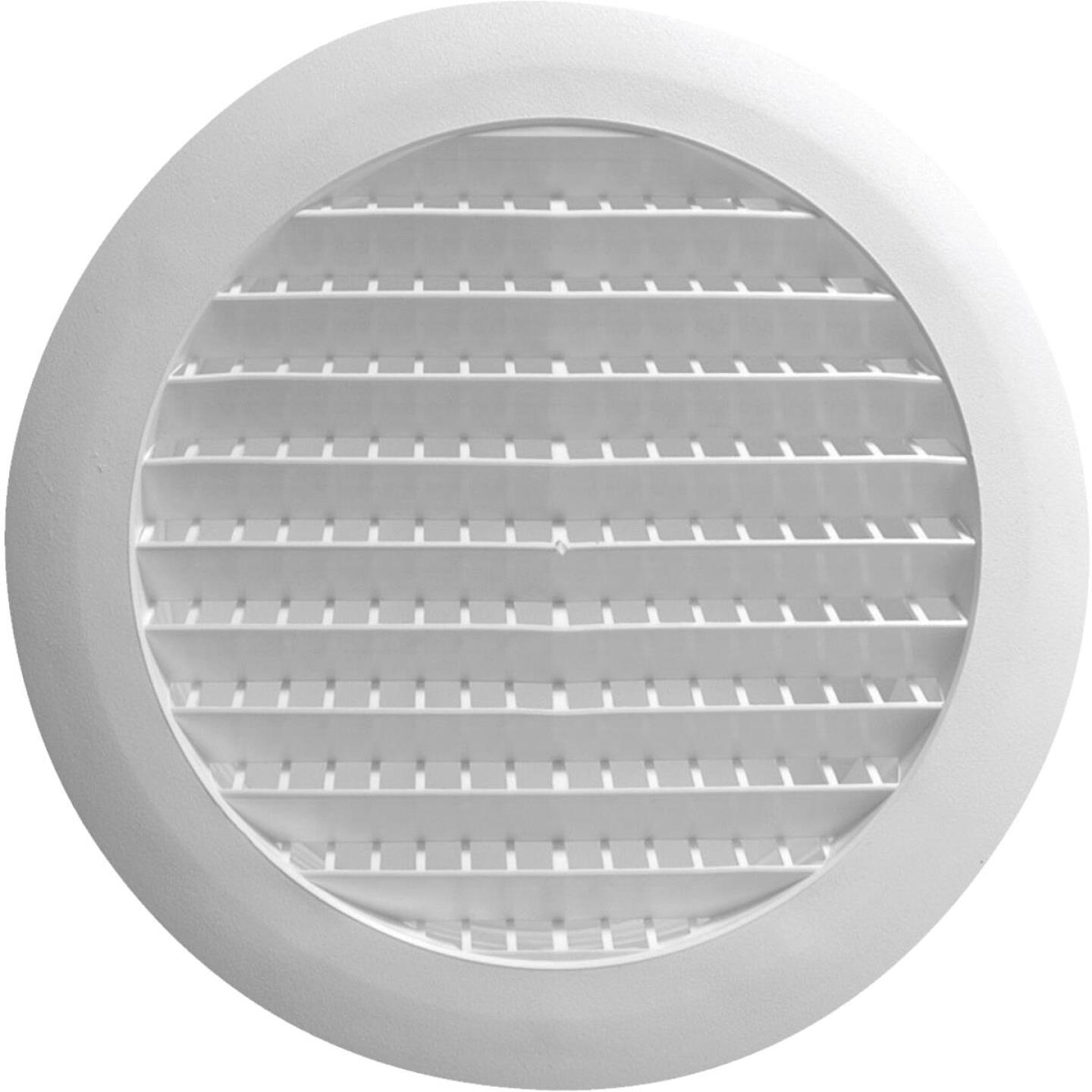 Builders Best 6 In. White Plastic Round Eave & Soffit Vent Image 1