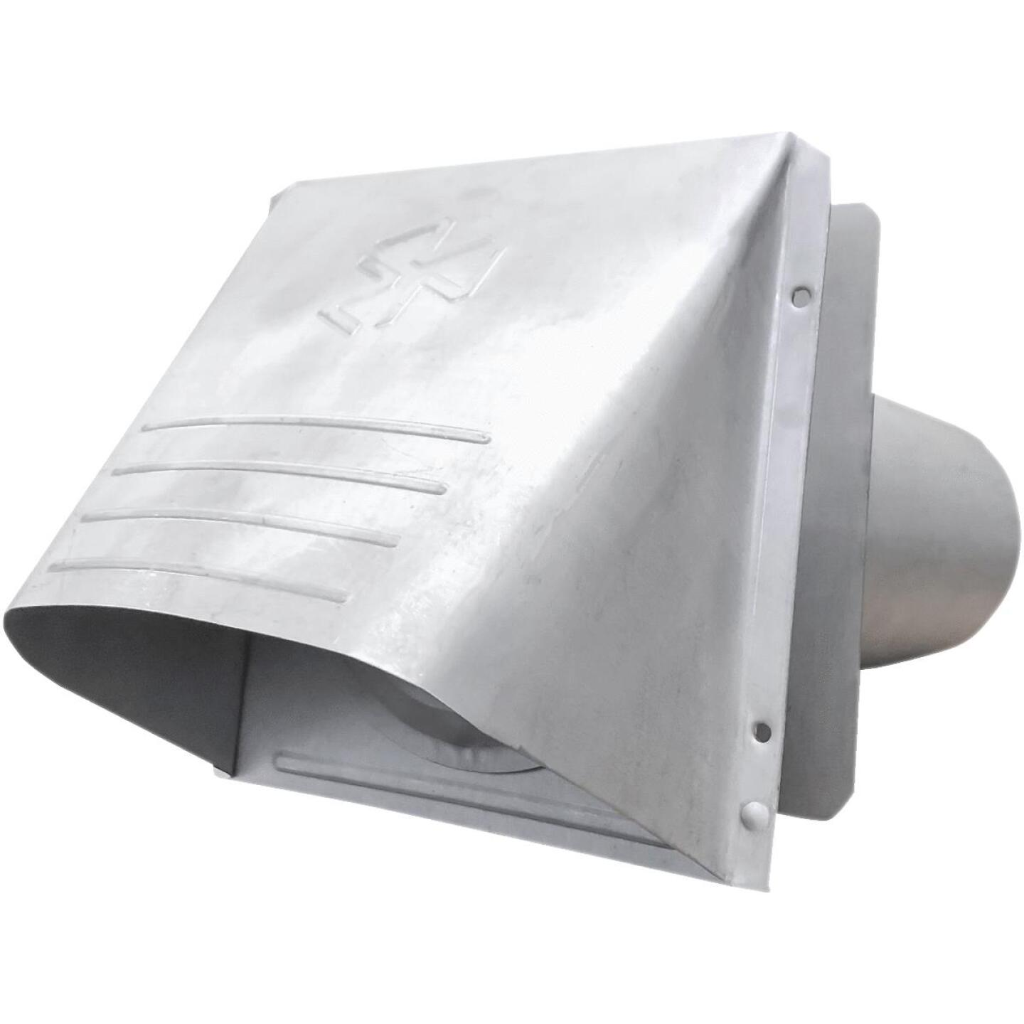 Builder's Best P-Tanium 4 In. Galvanized Wide Mouth Dryer Vent Hood Image 1