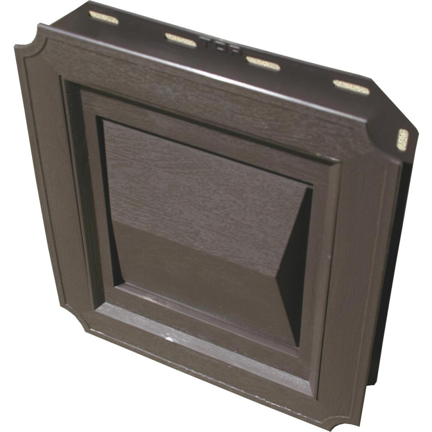 Builder's Best 4 In. Brown Plastic J-Block Dryer Vent Hood Image 1
