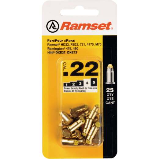 Ramset .22 Caliber Level 4 Yellow Powder Load (25 Pack)