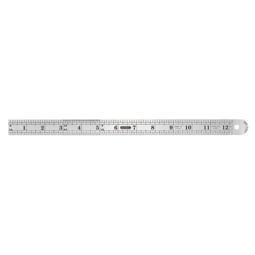 General Tools 12 In. Flexible Steel Industrial Precision Straight Edge Ruler