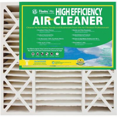 Flanders 16 In. x 25 In. x 4-1/2 In. Deep Pleat High Efficiency MERV 8 Furnace Filter