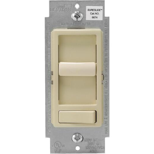 Leviton Decora Incandescent/LED/CFL Ivory Slide Dimmer Switch