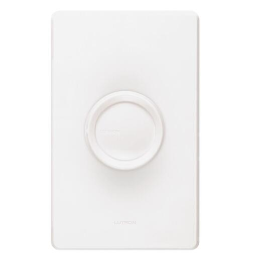 Lutron White/Ivory 600W 3-Way Rotary Dimmer Switch