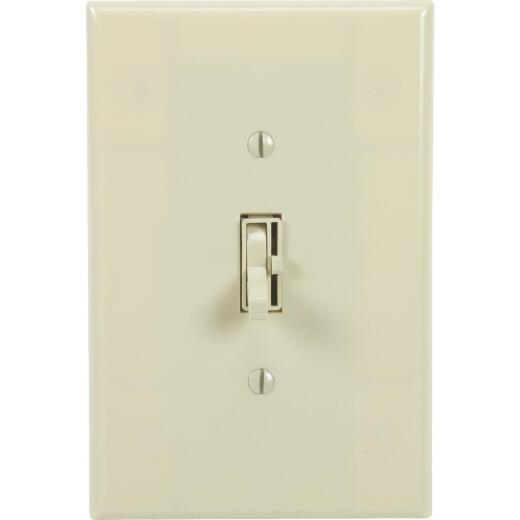 Lutron Toggler Incandescent Ivory Single Pole Preset Slide Dimmer Switch