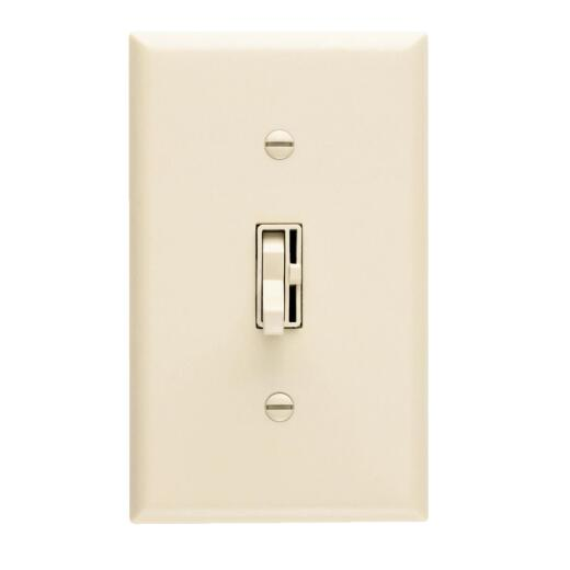Lutron Toggler Incandescent Ivory Preset Slide Dimmer Switch