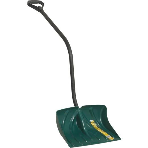 Suncast 18 In. Poly Snow Shovel & Pusher with 40.5 In. Steel Handle
