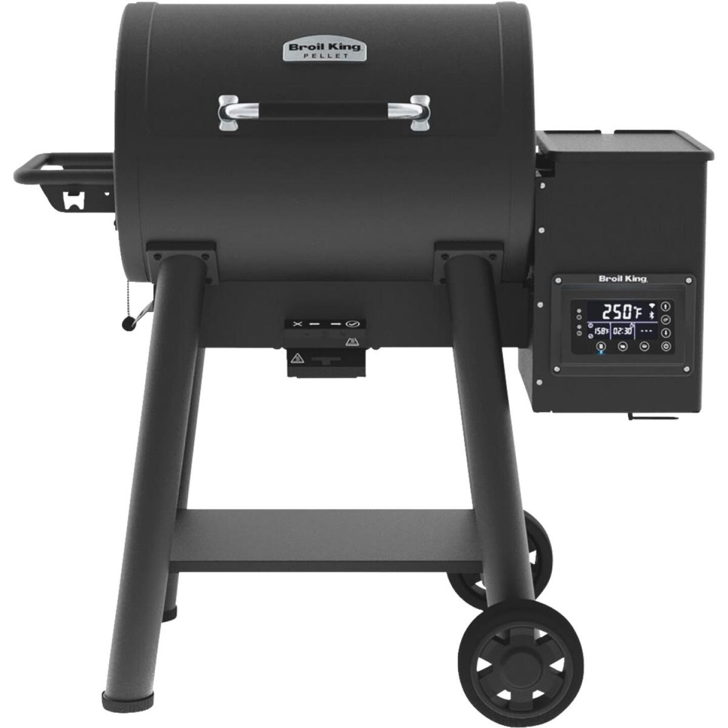 Broil King Baron Pellet 400 Black 635 Sq. In. Grill Image 1